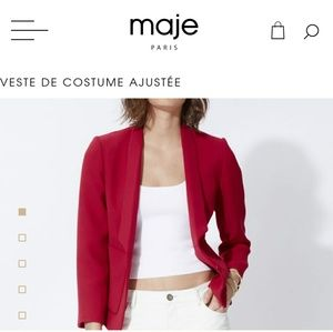 NWT Maje vibrant pink tailored jacket
